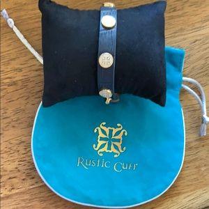 Rustic cuff adjustable bracelet